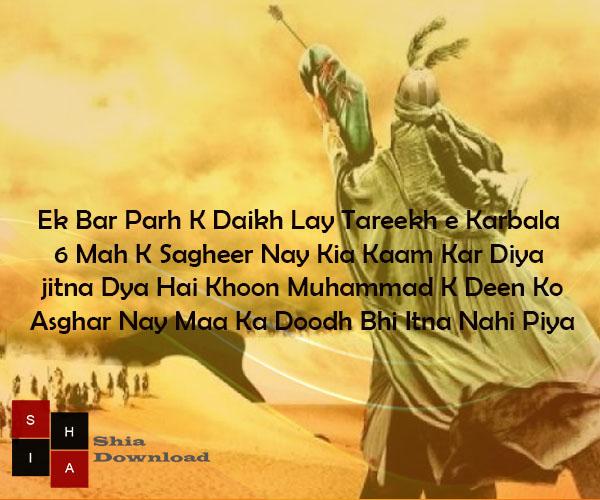 Ek Bar Parh K Daikh Lay Tareekh e Karbala | Ali Asghar a.s Shayari - Shia Download